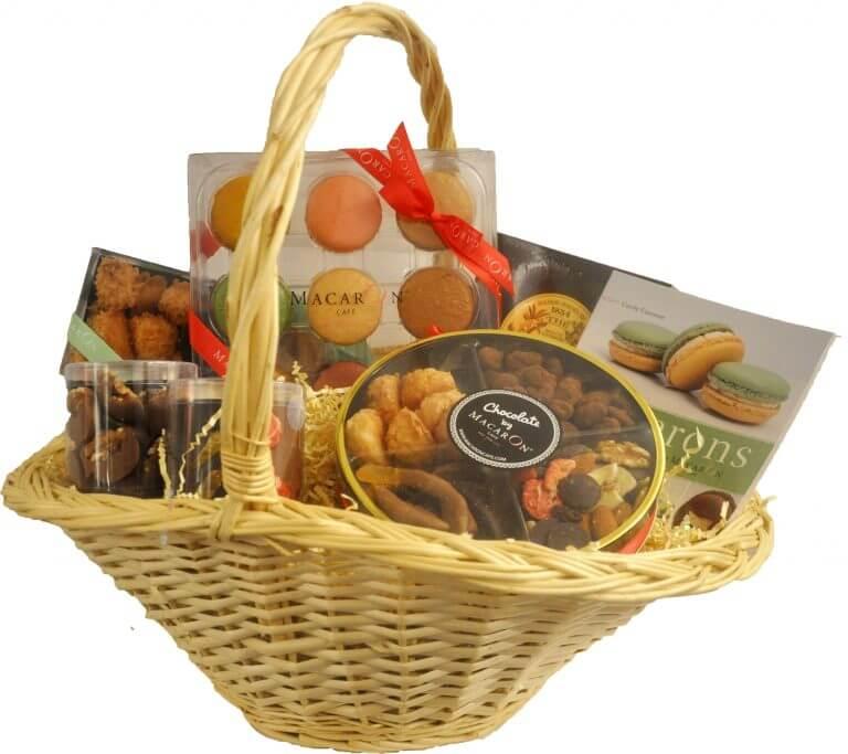Luxury Holiday Macaron Gift Basket