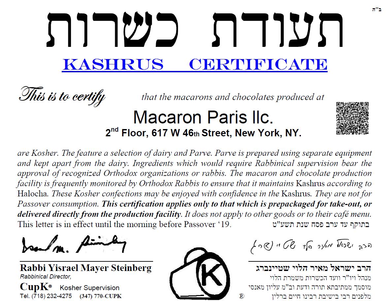 MacarOn_Paris_Kosher_Certificate_2018-2019